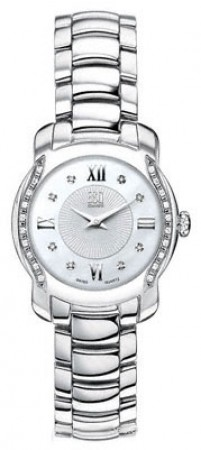 ESQ by Movado Ladies Watch Verona Silver Dial w/ Diamonds & Mother Of Pearl