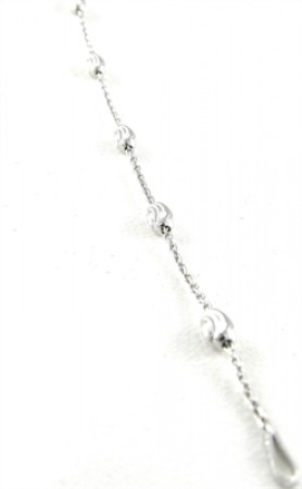 .925 Oval Bead With  Cable Link Bracelet