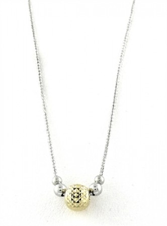.925 galaxy collection Two Tone necklace