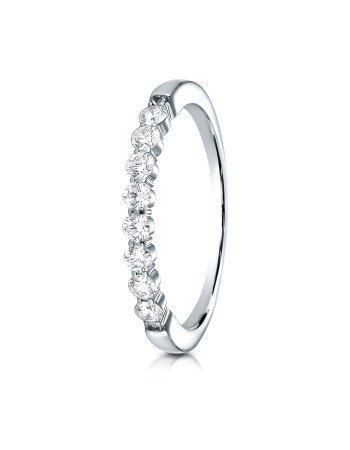 14k 2.5mm .32ct white gold common prong ring