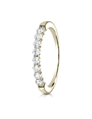 14k 2.5mm .32ct yellow gold common prong ring