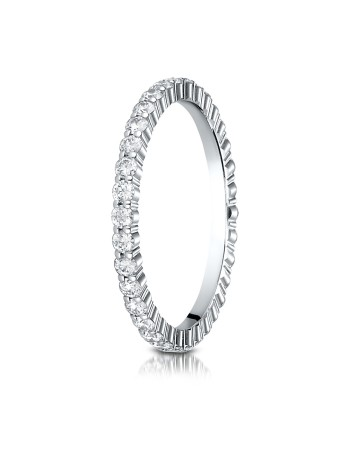 14k 2mm .64ct white gold eternity ring