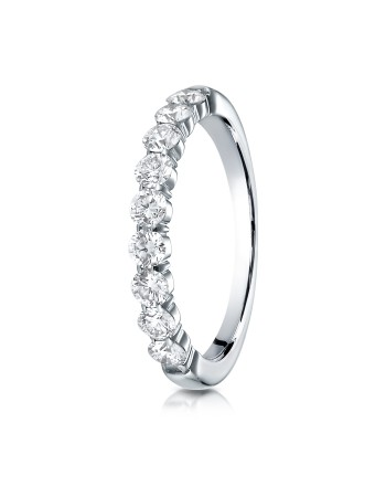 14k 3mm .72ct white gold common prong ring