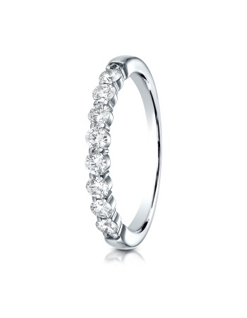 14k 2.5 mm .48ct white gold common prong ring