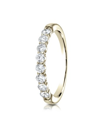14k 2.5 mm .48ct yellow gold common prong ring