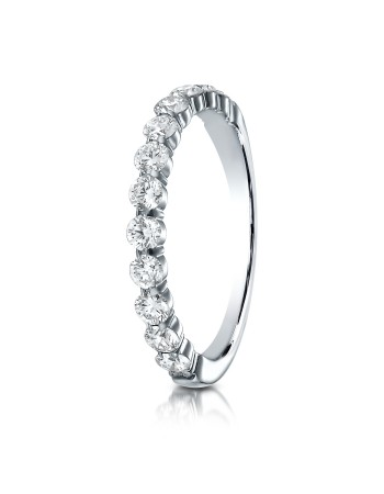 14k 2.5mm .72ct white gold common prong ring