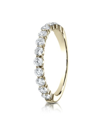14k 2.5mm .72ct yellow gold common prong ring