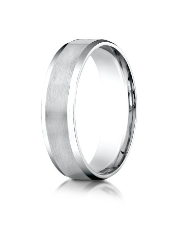 14k white gold matte finished ring