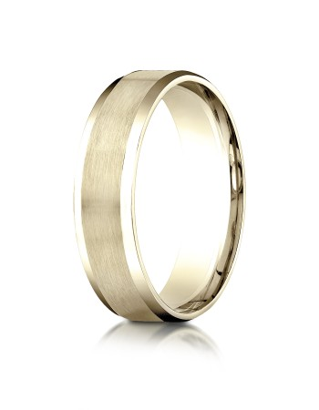 14k Yellow gold matte finished ring