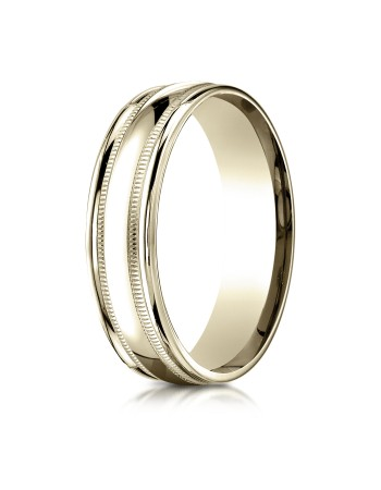 14k double miligrain yellow gold ring