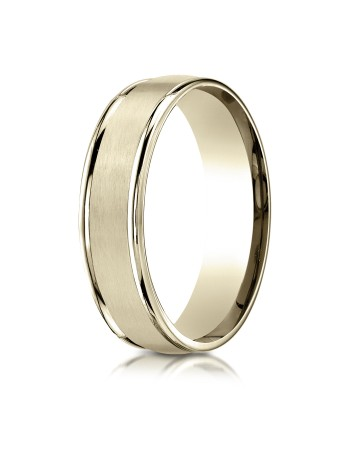 14k yellow gold satin center high polish sides ring