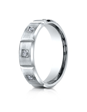 14k .32ct white gold burnishh set mens ring