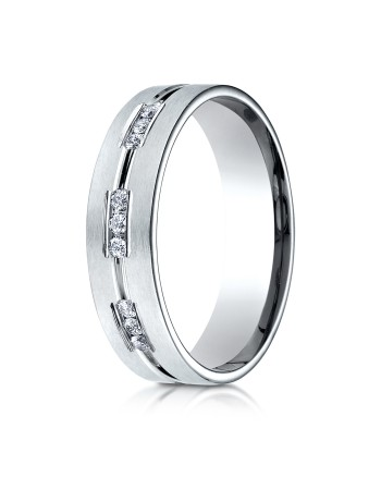 14k .36ct white gold mens carved diamond ring