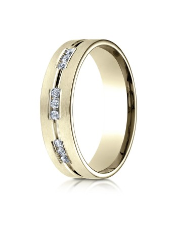 14k .36ct yellow gold mens carved diamond ring