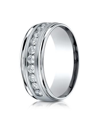 14k .96ct mens channel set diamond ring