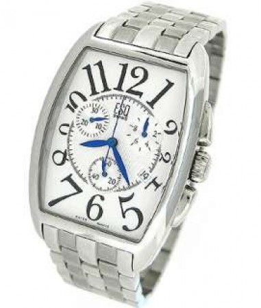 ESQ by Movado Mens Stainless Steel Drake Chronograph Silver Dial Watch