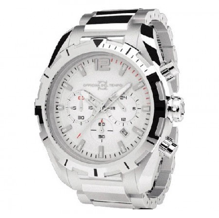 Officina Del Tempo Master 42mm White Chronograph Stainless Steel Watch