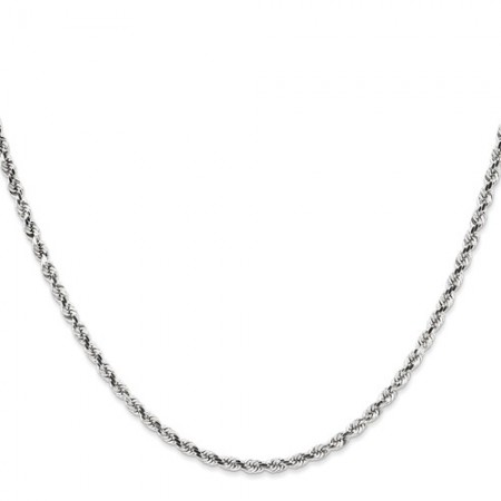"14k yellow gold 18"" long 2.75mm wide rope chain"