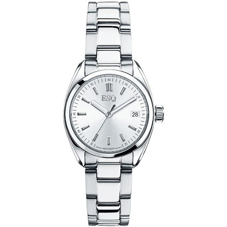 ESQ by Movado Ladies Watch Stainless Steel Sport Classic w/ Silver Tone Dial