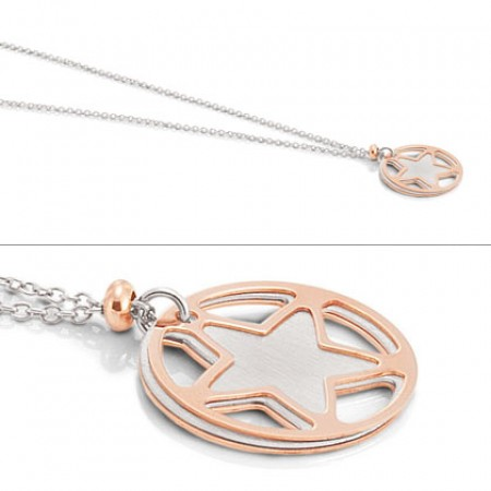 Two Tone Tropea pendant w/ star and Circle