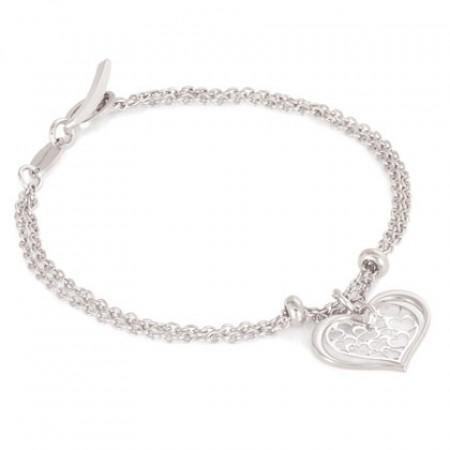 Romantica Bracelet w/heart pendant