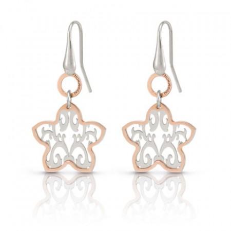 Romantica Earrings w/ two tone Flower