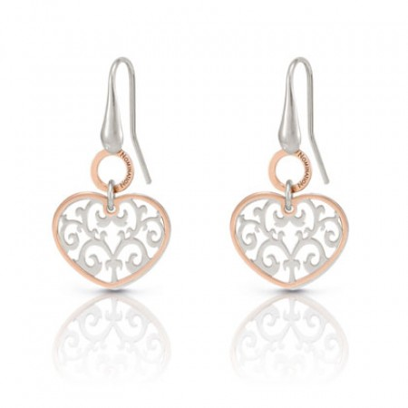 Romantica Earrings W/Two Tone heart