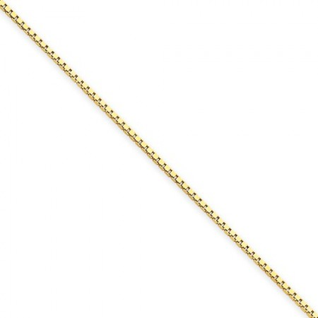"""14k yellow gold 18"""" long 1.0mm wide Box Link Chain"""