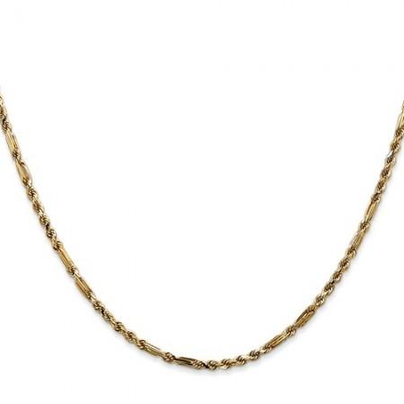"""14k 2.25mm 18"""" Milano Rope chain"""