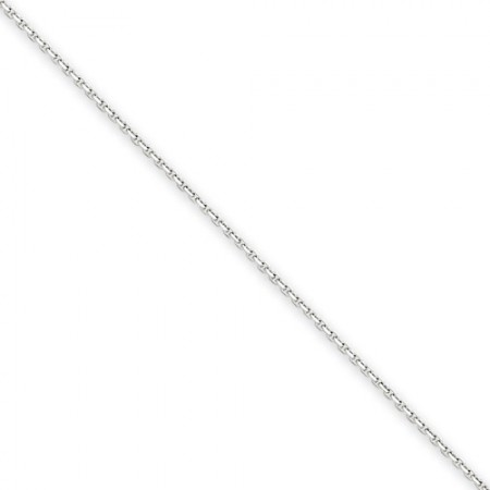 "14k white gold .95mm 18"" Cable link chain"