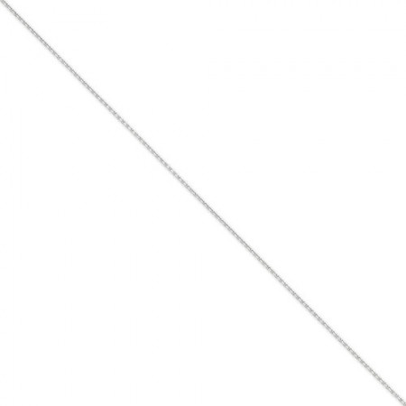 "14k white gold 1.3mm 18"" Cable link chain"