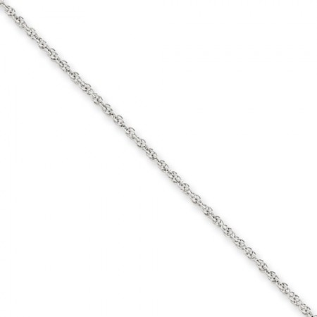 "14k white gold 1.4 mm 18"" Cable Link"