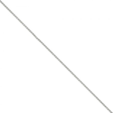 "14k White Gold 18"" long 1.9mm wide Round D/C Wheat Chain"