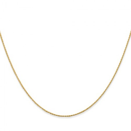 "14k yellow gold 18"" long .8mm wide Round D/C Wheat Chain"
