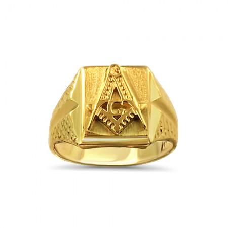 Yellow gold Mason ring