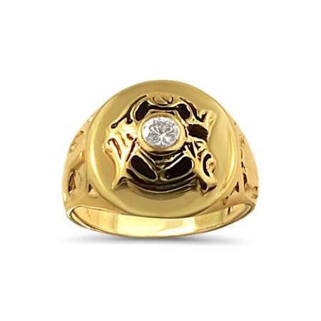 """Men's Oversized """"G"""" Masonic ring"""