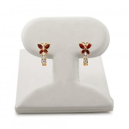 Butterfly Gemstone Earrings