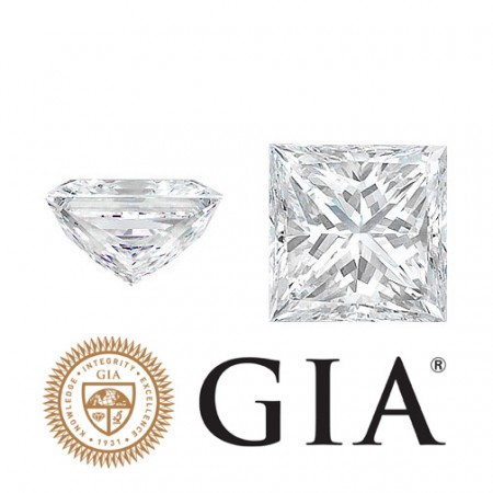 "0.91 Ct. Loose Princess Cut Diamond ""G"" Color, ""SI1"" Clarity, GIA Certified"
