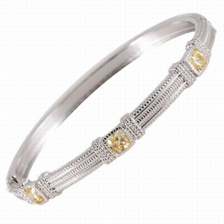 Canary crystal stackable bangle