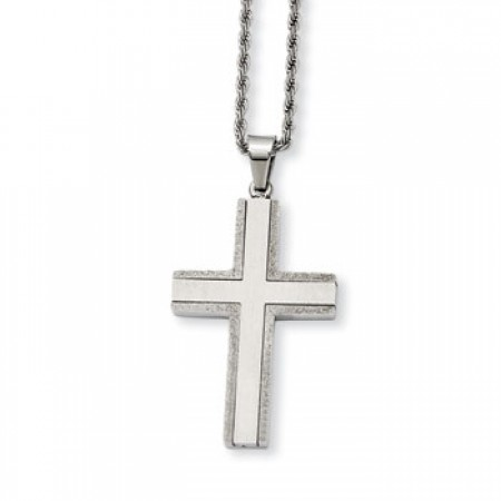 Stainless steel cross and chain