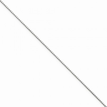 "14k white gold18"" long .90 mm wide Box Link Chain"