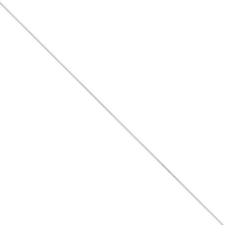 """14k white gold 18"""" long .50 mm wide Box Link Chain"""