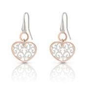 Romantica Earrings W/Two Tone heart