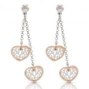 Romantica Earrings w/ two Hearts