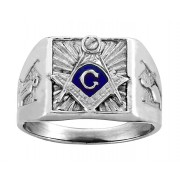Men's Square starburst Mason ring