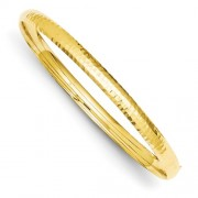 14k 3/16 Fancy Hammered Hinged Bangle Bracelet