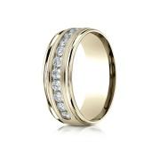 14k .96ct mens yellow gold  channel set diamond ring