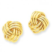 Yellow gold love knot earrings