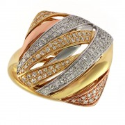Moderna Tri color ring