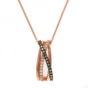 14k Espresso collection diamond pendant
